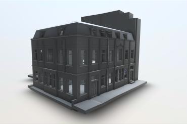Greyscale 3D BIM Revit Model